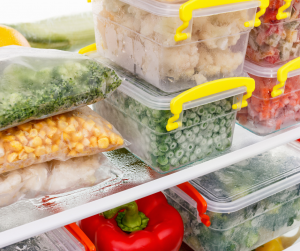 Image of food stored in the freezer